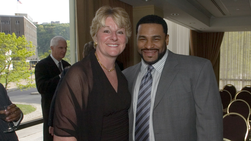 Agnus Berenato and Jerome Bettis