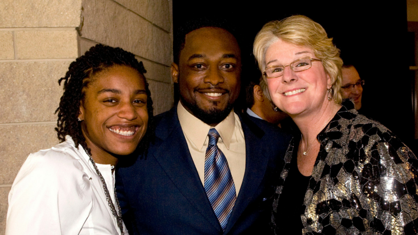 Shavonte Zellous, Mike Tomlin and Agnus Berenato